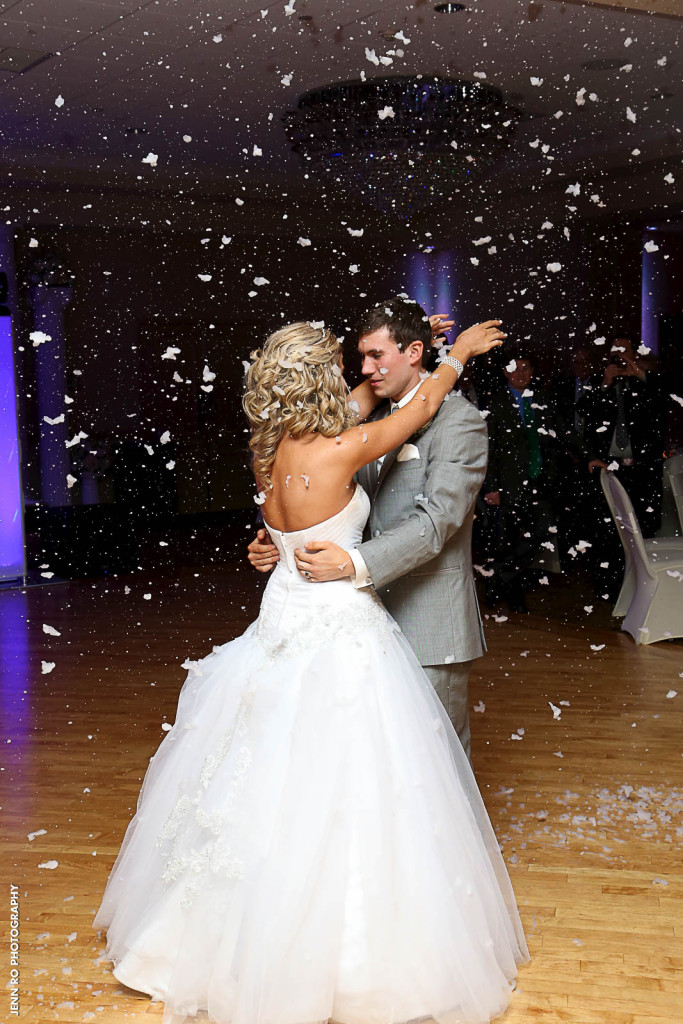 Indoor Snow at New Jersey Wedding