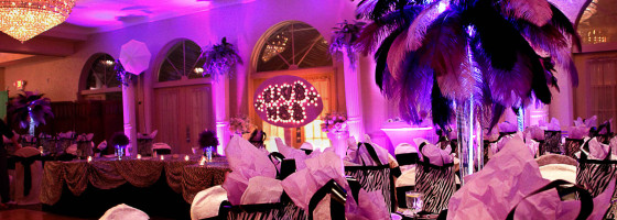 Sweet 16 Zebra Print and Feather Decor
