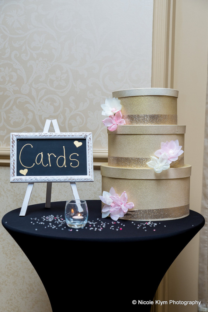 Gold Cards Sign and Boxes
