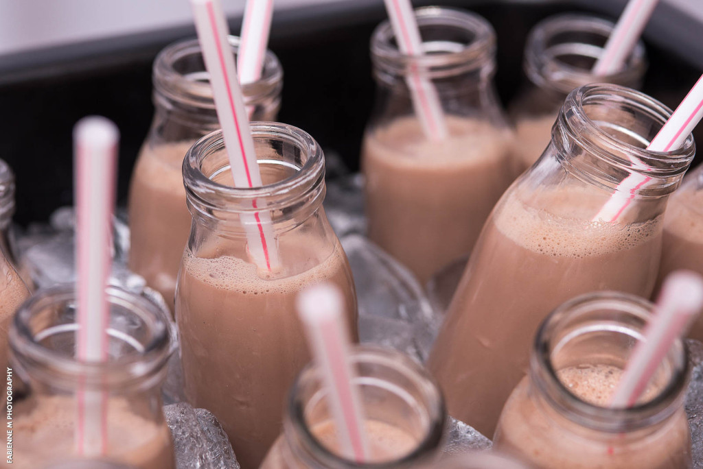 Chocolate Milk and Cookies Station