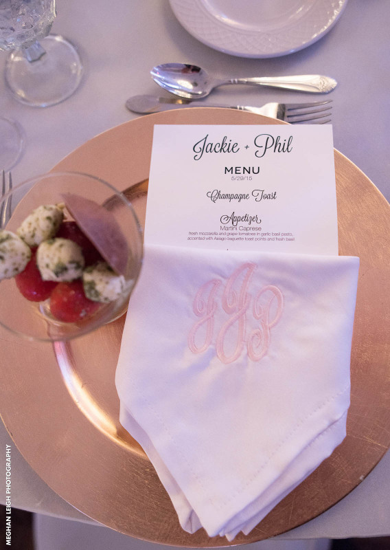 Clean and Classic Wedding Place Setting NJ Venues