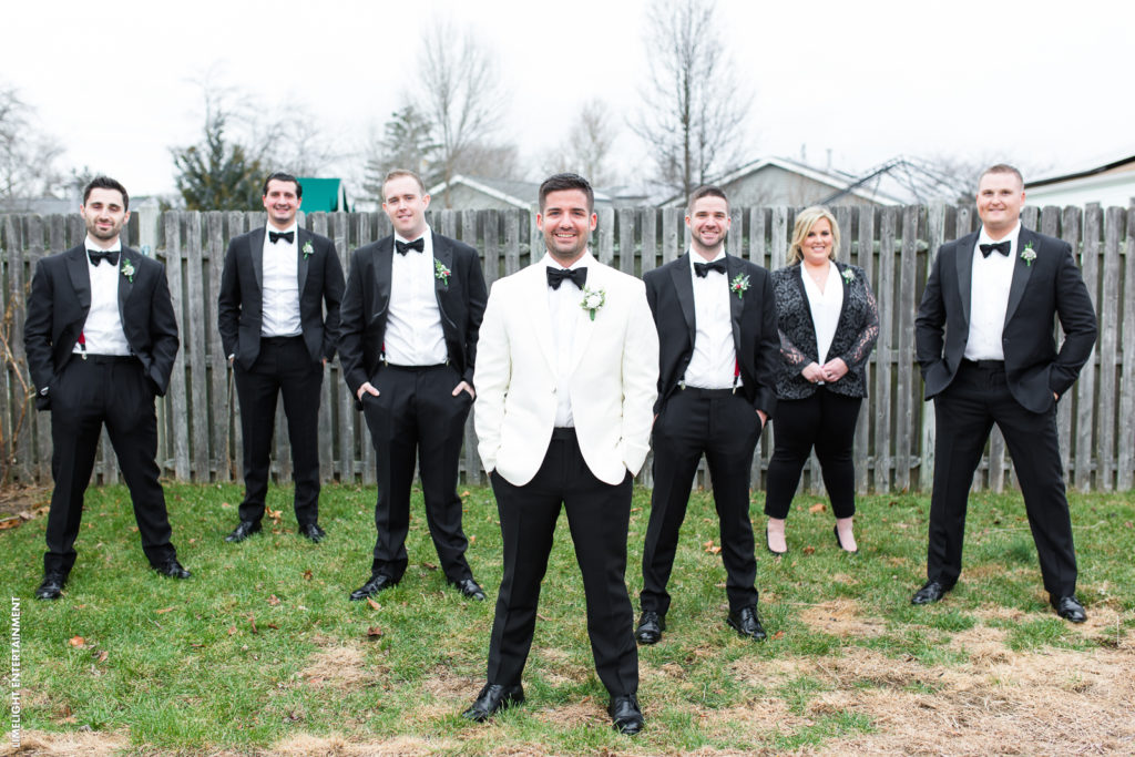hollywood glam groomsmen