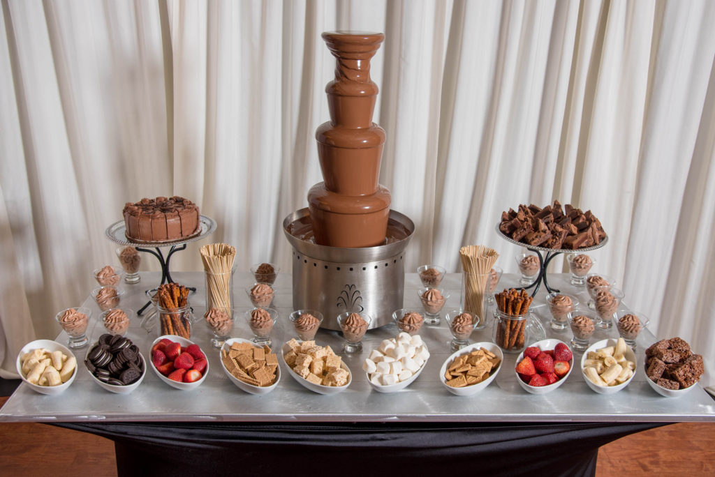 Chocolate lover's paradise food station