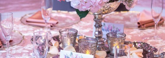 Ring in Spring Bridal Show Table Settings