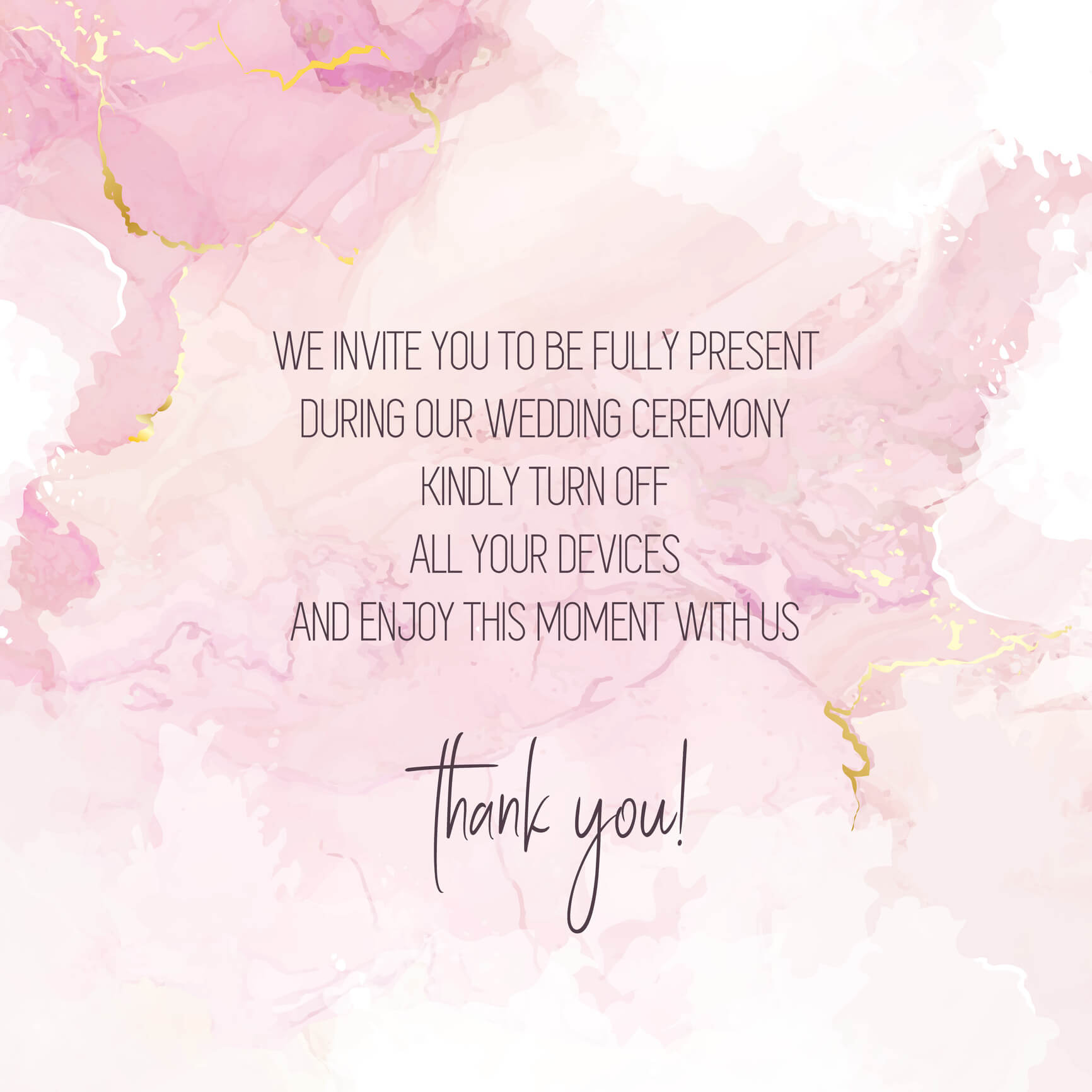 Blush pink watercolor fluid painting vector design card. Dusty rose and golden marble geode frame. Spring wedding invitation. Petal or veil texture. Dye splash style.